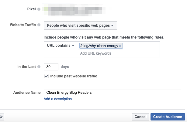 Using Facebook video to target specific web traffic